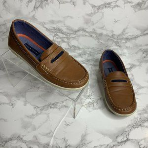 Tommy Hilfiger Youth Boys Size 3 Brown Slip On